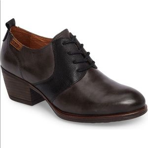 PIKOLINOS Baqueira Gray Oxford Pump Block Heel